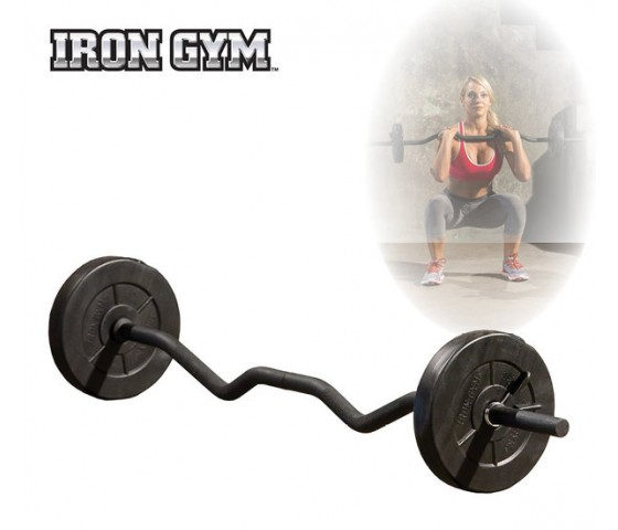Iron Gym 23kg Adjustable All In One Curl Bar ..